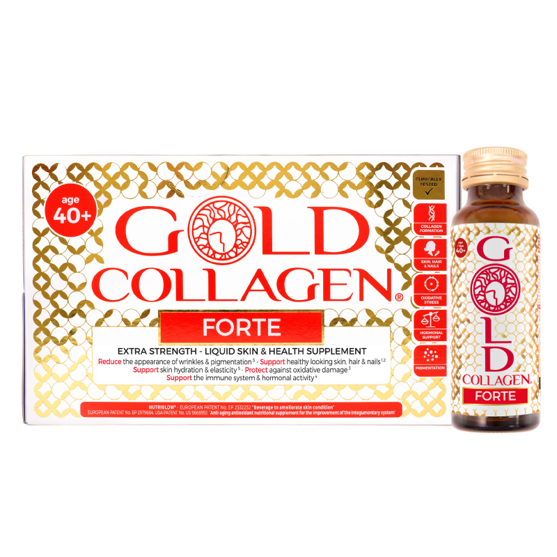 FORTE GOLD COLLAGEN® VIP Price x 30 BOTTLES (Age 40+) Age Defying - Collagen skincare supplement Anti Ageing for SKIN + HAIR & NAILS